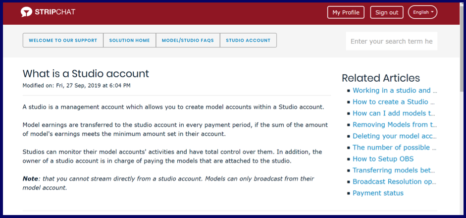 What the Difference Between Studio and Model Account?
