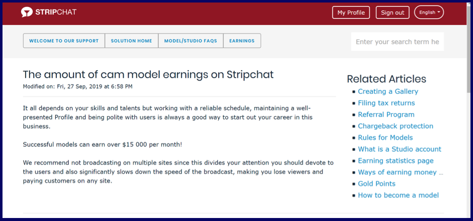 How Much Can Model Earn On StripChat.com