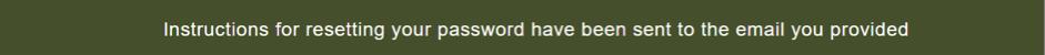 instructions sent to restore password